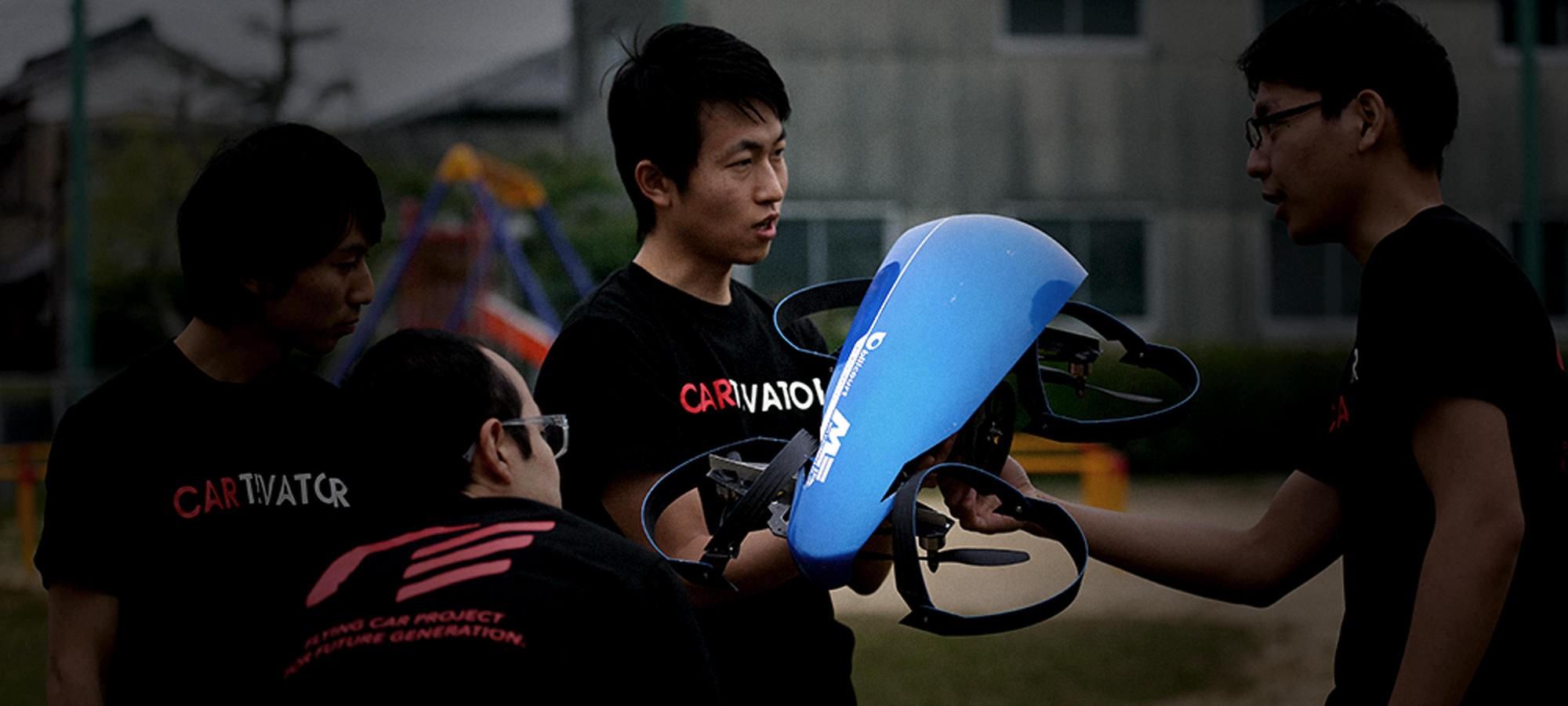 Equipe do Cartivator testa protótipo (Foto: Divulgação)