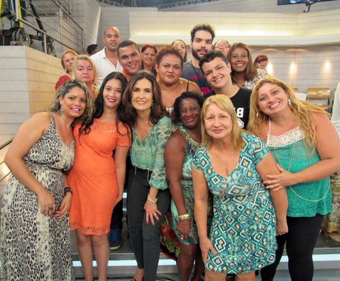 Fátima com a plateia do Encontro (Foto: Priscilla Massena/Gshow)