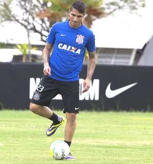 Guerrero no treino do Corinthians (Foto: Daniel Augusto Jr. / Agência Corinthians)