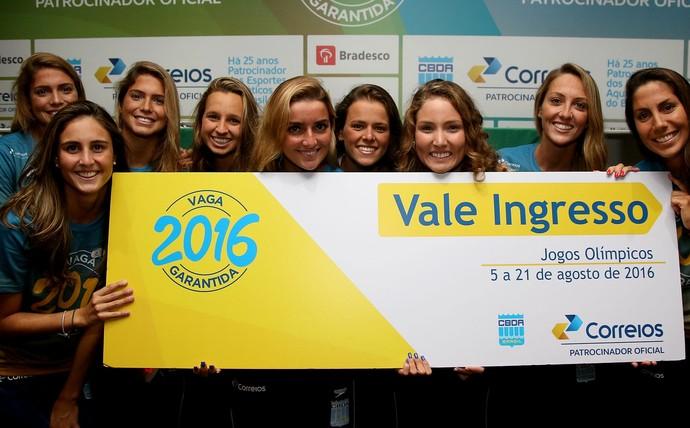 Apresentação do time brasileiro de esportes aquáticos para o Rio 2016 CBDA nado sincronizado (Foto: Satiro Sodré / SSPress)