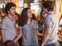 Zac e Yasmin discutem e Léo Régis chega para defender a irmã