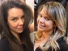 Uau! Fernanda Souza dá adeus aos fios loiros e vira morena: 'Achei ótimo!'