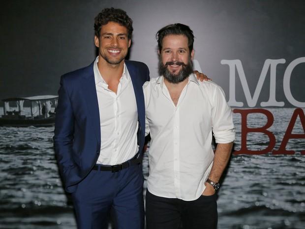 Cauã Reymond e Murilo Benício na coletiva de Amores Roubados (Foto: Felipe Panfili / AgNews)
