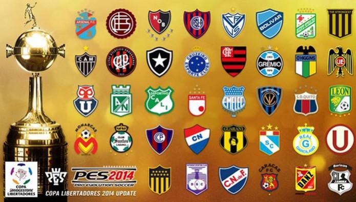 PES 2014: atualização grátis adiciona Libertadores com times brasileiros 1 (Foto: Divulgação)