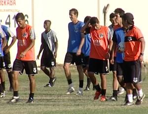 Nacional de Uberaba treino (Foto: Reprodução/TV Integração)