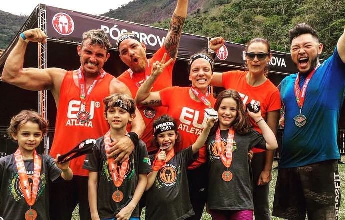 EuAtleta - spartan race família (Foto: Arquivo pessoal)