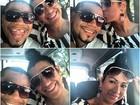 Depois de chegar a SP, Naldo e Moranguinho postam foto no trânsito