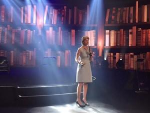 A pesquisadora Virginia Mouseler no encontro da Academia do Emmy Internacional  (Foto: G1)