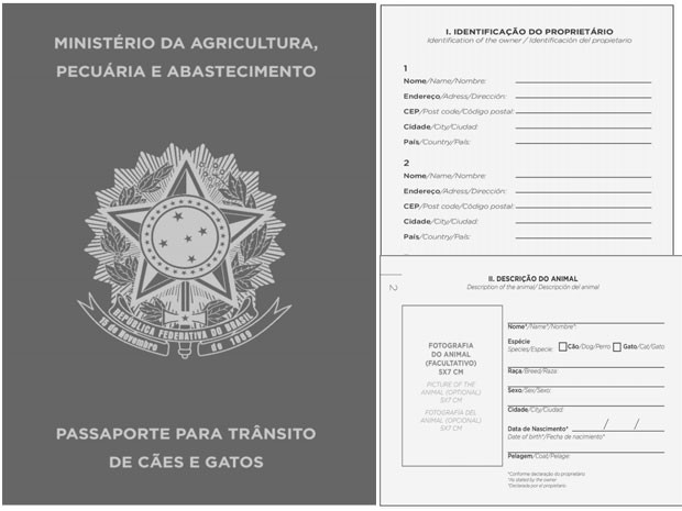 Passaporte cães e gatos (Foto: Reprodução/Diário Oficial da União)