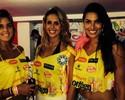 Trio de musas do vôlei curte carnaval de Salvador e ganha elogios na web