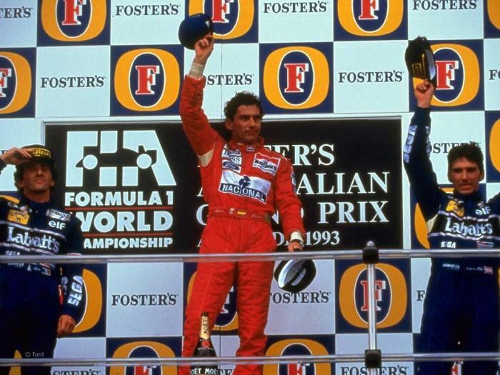 Ayrton Senna pódio Austrália 1993