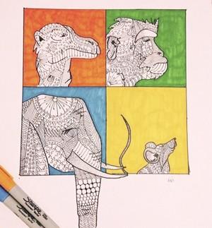 Apresentadora do Madrugada Vanguarda é fera no desenho (Foto: Arquivo pessoal/ divulgação)