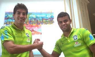 Lucas Silva e Alisson, Brasil Sub-21 (Foto: Richard Souza)