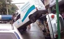 Adolescente rodopia com carro furtado, bate em veículo e é detido (Arquivo Pessoal/Márcio Garpelli)