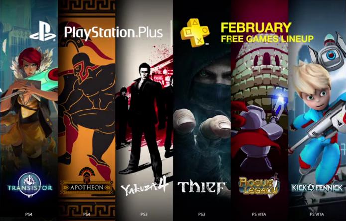 Thief, Transistor e Yakuza 4 são alguns dos jogos da PS Plus em fevereiro (Foto: Reprodução/YouTube)