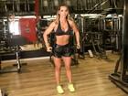 Eliana Amaral mostra seu treino de musculação