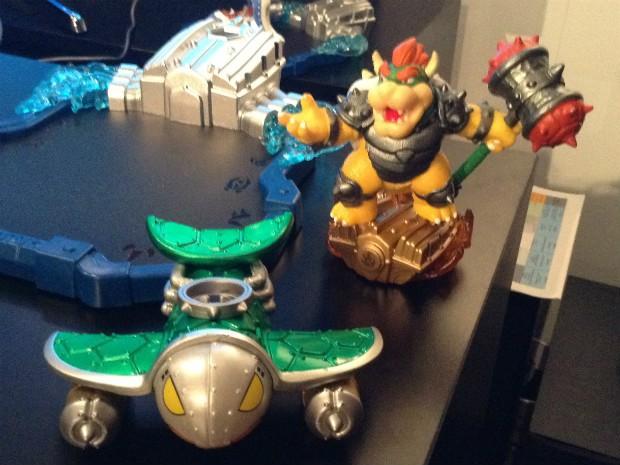 Bowser é um dos personagens da Nintendo que terá boneco compatível com o novo 'Skylanders' de Wii U (Foto: Bruno Araujo/G1)