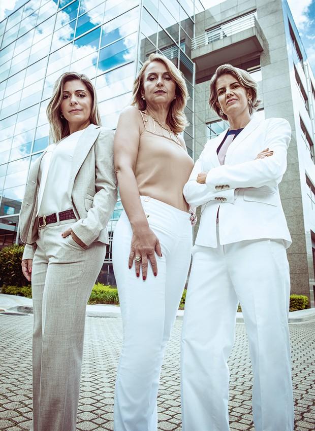 Alice, Maria e Cristiane, juntas pela equidade de gênero  (Foto: Fred Othero)