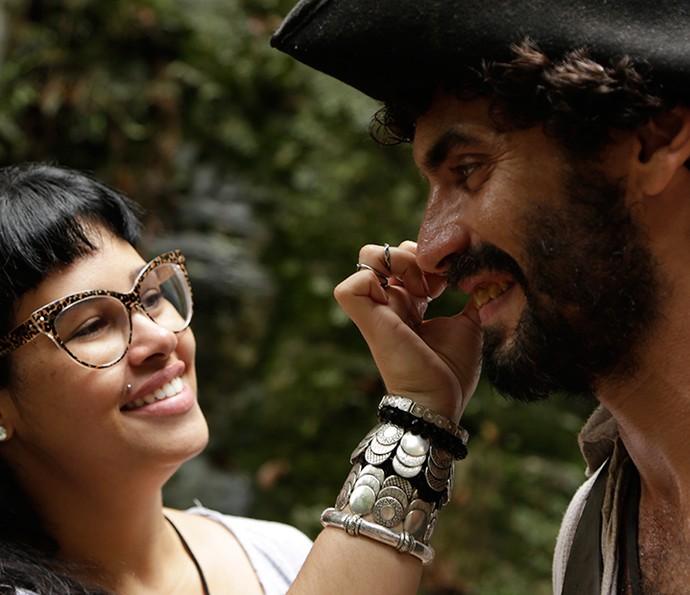 Nikolas Antunes se preparando para interpretar Simão (Foto: Alessandra Albuquerque/Gshow)
