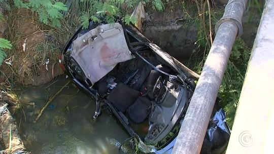 Motorista que caiu em córrego usou carro da irmã para ir a bar, diz cunhado