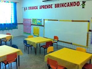 Sala da creche Magdalena Arce Daou (Foto: Patrick Mota/Rádio Amazonas FM)