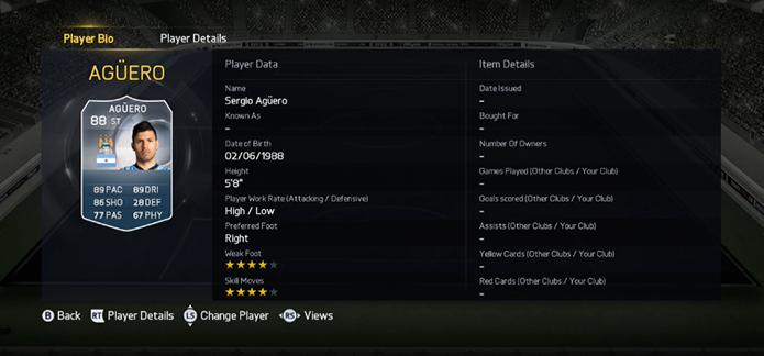 Aguero ainda aparece entre os melhores do game (Foto: Reprodução/FUTBetaPicture)