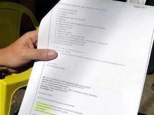Presidente da ONG documentou os e-mails enviados pelo CCZ (Foto: Eduardo Guidini/ G1)