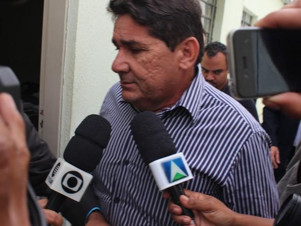 Prefeito nega ter assassiando a mulher (Foto: Gustavo Almeida/G1)
