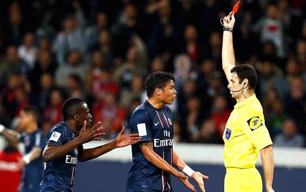 Thiago Silva cartão vermelho PSG  Valenciennes (Foto: Reuters)