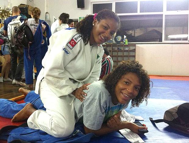 Raquel e Rafaela Silva Judô (Foto: Reprodução / Facebook)