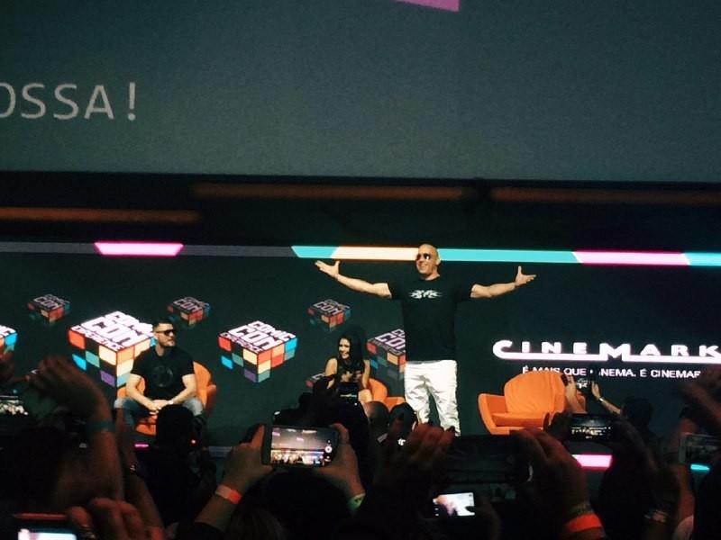 Vin Diesel em sua passagem pela CCXP (Foto: Vitor Mazon) (Foto: Vitor Mazon)