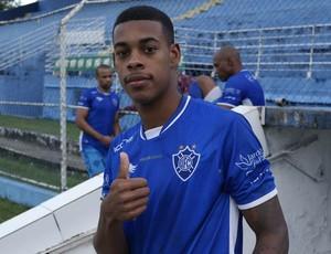 Paulo Vitor, atacante do Vitória-ES (Foto: Richard Pinheiro/GloboEsporte.com)