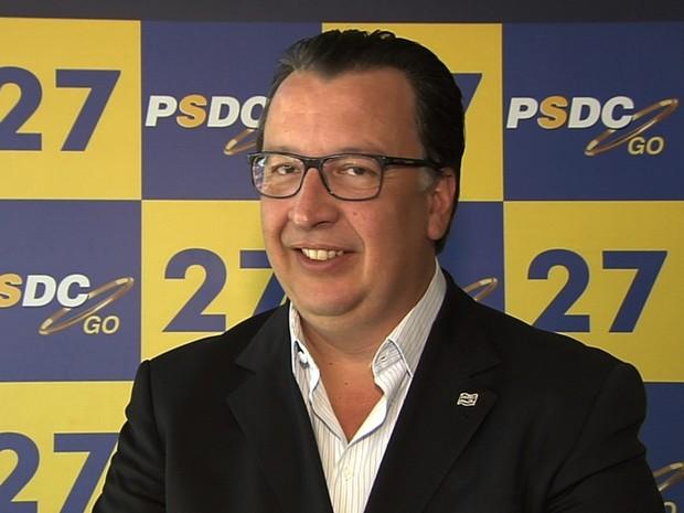 PSDC oficializa Alexandre Magalhães como candidato à prefeito de Goiânia, Goiás (Foto: Reprodução/TV Anhanguera)