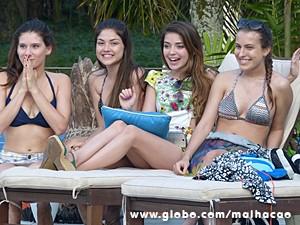 Flaviana comemora sucesso da operação (Foto: Malhação / TV Globo)