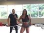 Belo, esforçadinho, dança com a mulher, Gracyanne Barbosa