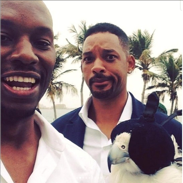 Os atores Tyrese Gibson e Will Smith (Foto: Instagram)