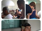 Neymar pinta cabelo e barba dos amigos: 'Galera entrou na onda'