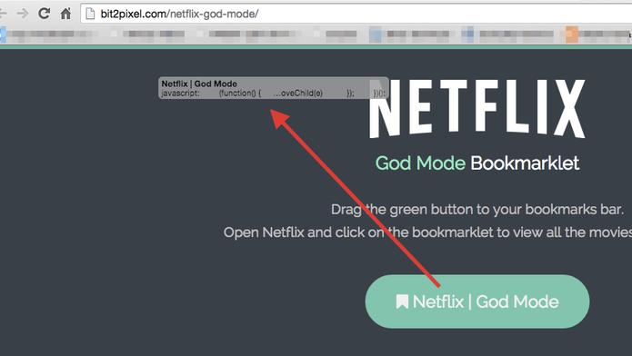 Copiando o Bookmarklet do God Mode para a barra de favoritos do navegador (Foto: Reprodução/Marvin Costa)