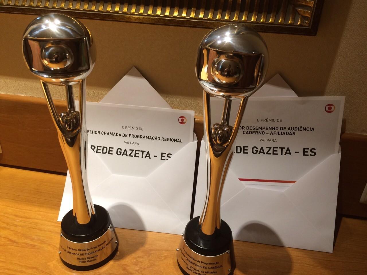Troféus Prêmio de Programação afiliadas (Foto: Gabriel Moura)