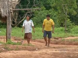Aldeia na terra indígena Jarudore atualmente abriga menos de 100 índios. (Foto: Reprodução/Globo Rural)