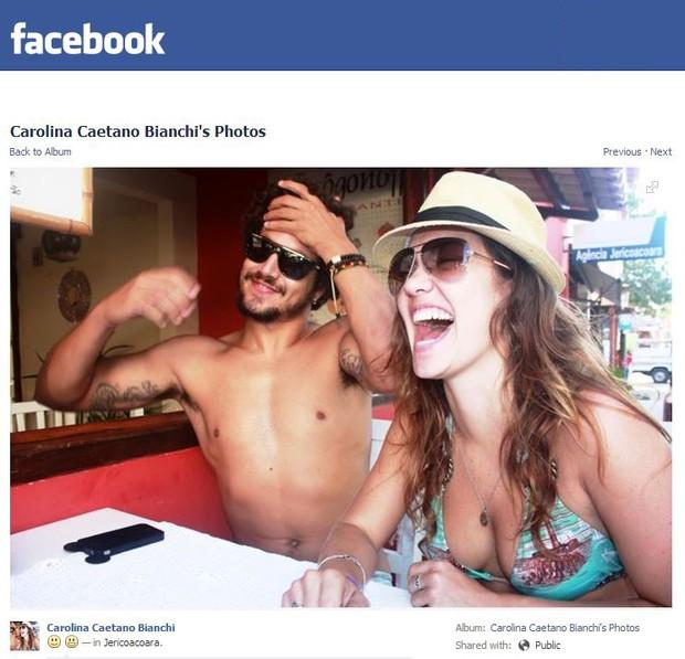 Carolina Bianchi e Caio Castro (Foto: Facebook/Reprodução)
