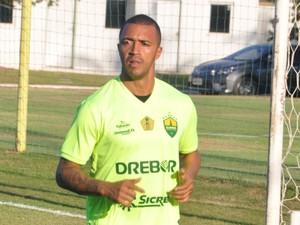 Tiago Amaral, novo atacante do Cuiabá (Foto: Christian Guimarães)