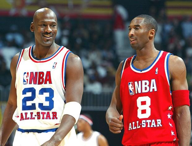 Michael Jordan e Kobe Bryant basquete NBA (Foto: Getty Images)