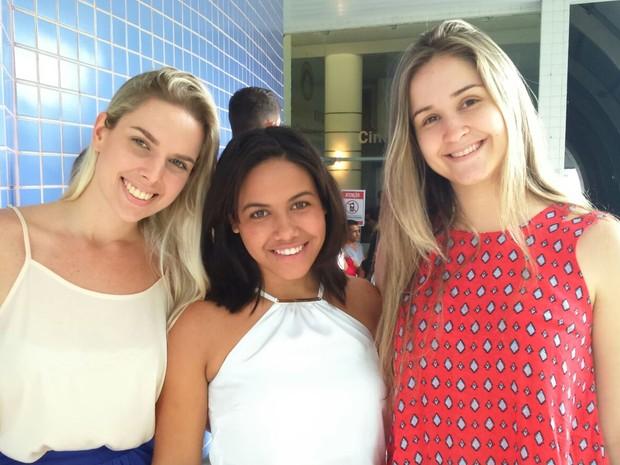 Estudantes de Direito acompanham o julgamento de Calú e coronel Ferreira (Foto: Juirana Nobres/ G1)