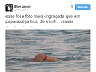 Ellen Jabour sobre 'clique' de seu bumbum feito na praia: 'Engraçada'