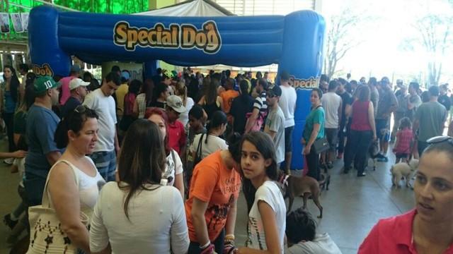 Estandes do Estimacão receberam dezenas de pessoas (Foto: Adriana Pellegrino )