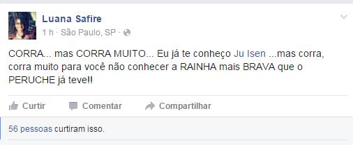 Luana Safire, rainha de bateria da Peruche (Foto: Reprodução/Reprodução)