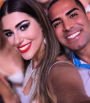Vivian, do BBB17, e o amigo Rodrigo Abreu (Foto: Arquivo Pessoal)