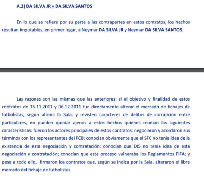 Despacho da Justiça da Espanha contra Neymar (Foto: Reprodução/Buzzfeed)