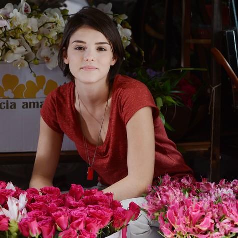 Isabelle Drummond caracterizada para 'Sangue bom' (Foto: Zé Paulo Cardeal/ TV Globo)